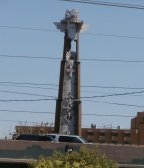 Native designed towers around Albuquerque