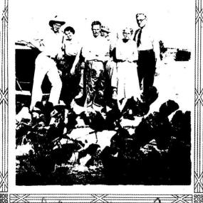 Bud and Ellis Neel, Bruce, Crile, Katie and Charley Dean 1935, Dean Place, Moriarty, New Mexico